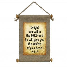 "Свиток ""Delight yourself in the LORD"""